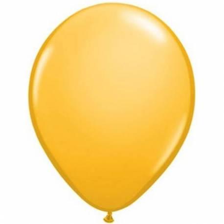 Lateks baloni 13 cm, Temno rumeni, 100/1