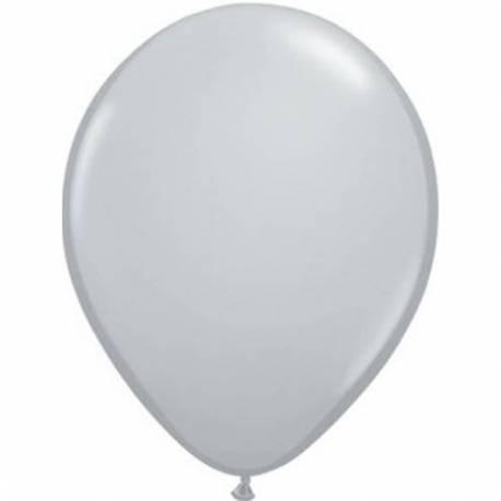 Lateks baloni 13 cm, Sivi, 10/1
