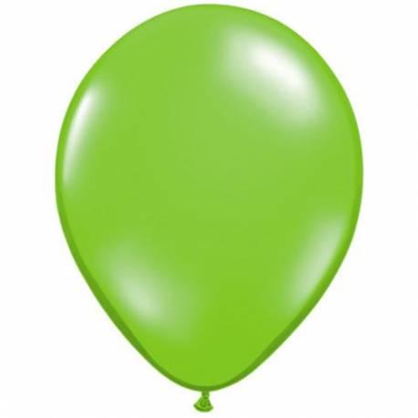 Lateks baloni 13 cm, Prozorni svetlo zeleni, 10/1