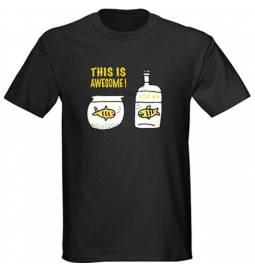 Majica Vodka awesome, črna
