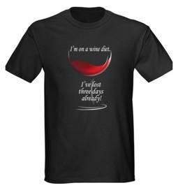 Majica Wine diet, črna