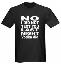 Majica Vodka did, črna