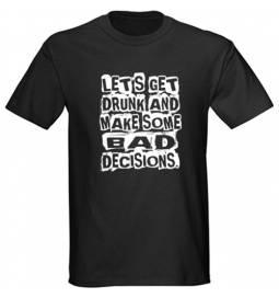 Majica Bad decisions, črna