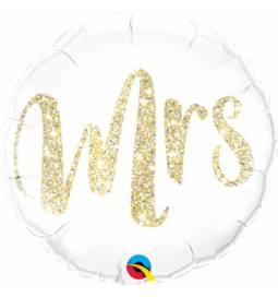 Folija poročni balon Mr Gliter, zlat