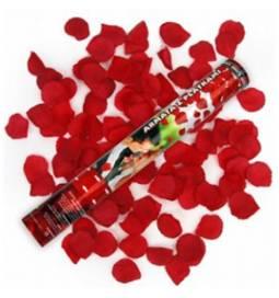 Strelec konfetov bele vrtnice 60 cm