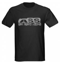 Majica Ass 2, črna