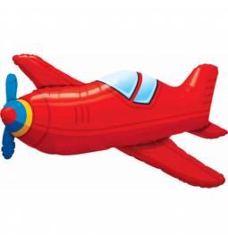 Folija balon Rdeče letalo