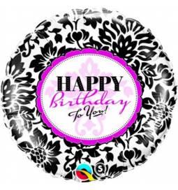 Folija balon Happy Birthday Hot Pink