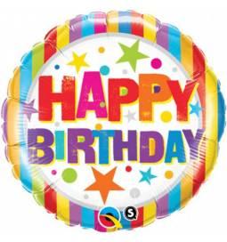 Folija balon Happy Birthday Blue Cake