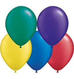Lateks baloni 13 cm, Pearl radiant mešani, 10/1