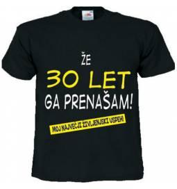 Majica Že 25 let ga prenašam, črna