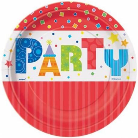 Krožniki 18 cm, Party Style 8/1