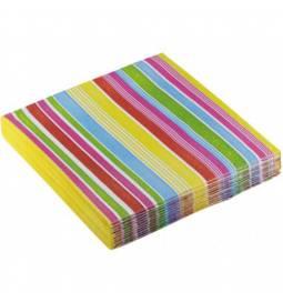 Serviete 33x33 cm, Stripes vijolične 20/1