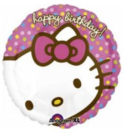 Folija balon Happy Birthday Hello Kitty