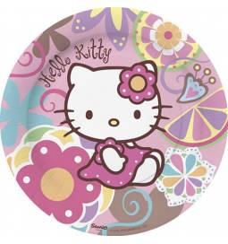Krožniki 23 cm, Hello Kitty Srčki 8/1