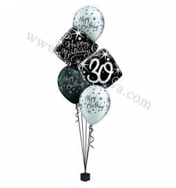 Dekoracija iz balonov za 30 let, elegant