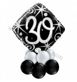 Dekoracija iz balonov za 30 let, elegant 1