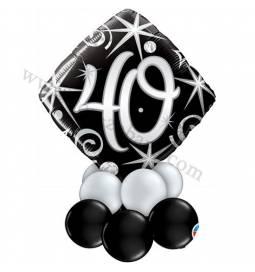 Dekoracija iz balonov za 30 let, elegant, manjša
