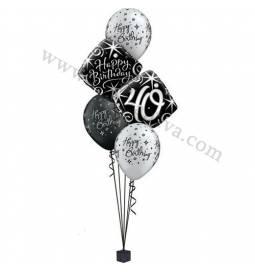 Dekoracija iz balonov za 40 let, elegant