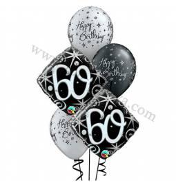 Dekoracija iz balonov za 50 let, elegant
