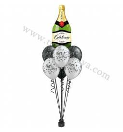 Dekoracija iz balonov za 60 let, elegant