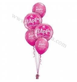 Dekoracija iz balonov Birthday Sparkle, zelena