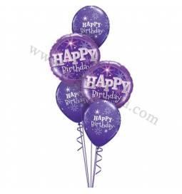 Dekoracija iz balonov Birthday Sparkle, pink