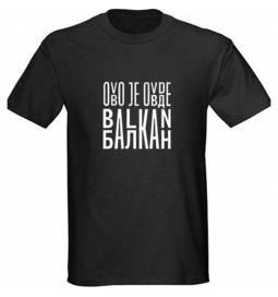 Majica Ovo je Balkan, črna