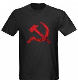 Majica Srp in kladivo, črna