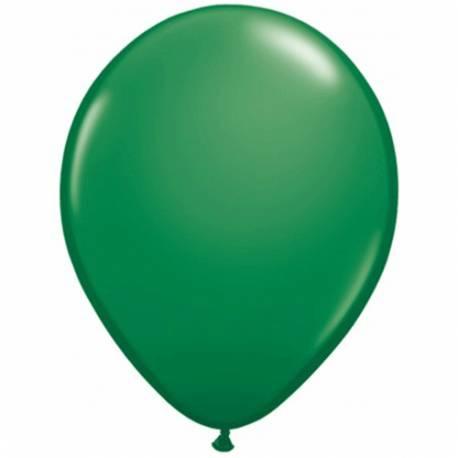 Lateks baloni 28 cm, Temno zeleni, 10/1