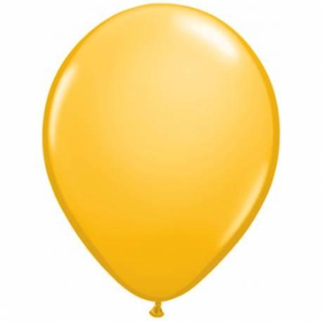 Lateks baloni 28 cm, Temno rumeni, 10/1