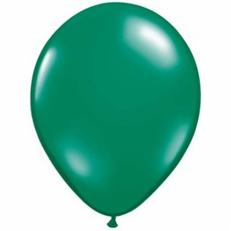 Lateks baloni 28 cm, Tropsko zeleni, 10/1, prozorni