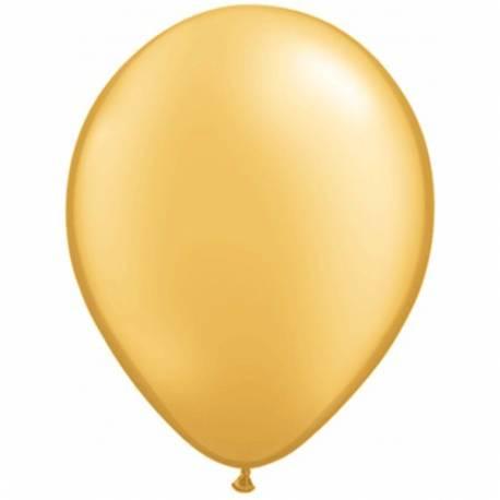 Lateks baloni 28 cm, Zlati, 10/1