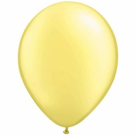 Lateks baloni 28 cm, Lemon Chiffon, 10/1, pearl