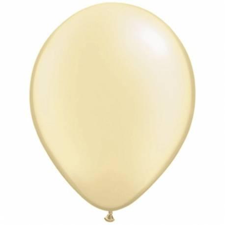 Lateks baloni 28 cm, Beli, 10/1, pearl