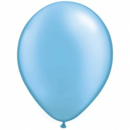 Lateks baloni 28 cm, Svetlo modri, 10/1, pearl