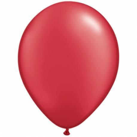 Lateks baloni 28 cm, Rubinasto rdeči, 10/1, pearl