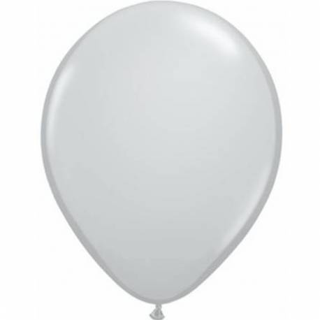 Lateks baloni 28 cm, Siva, 10/1