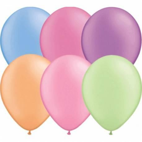 Lateks baloni 28 cm, Svetlo roza, 10/1, neon