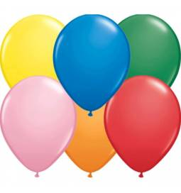 Lateks baloni 28 cm, Pisane barve, 10/1, neon