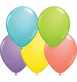 Lateks baloni 28 cm, Pisane barve, 10/1, standard