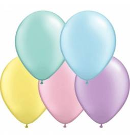 Lateks baloni 28 cm, Pisane barve, 10/1, prozorni
