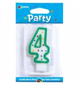 Svečka s pikami za rojstni dan, Številka 3