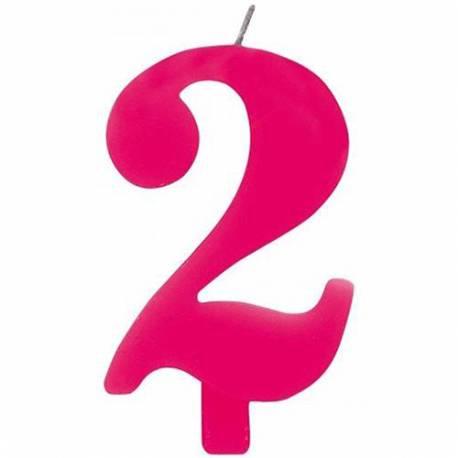 Svečka za 2. rojstni dan, Čudežna, pink