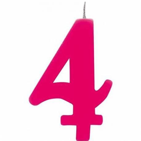Svečka za 4. rojstni dan, Čudežna, pink