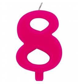 Svečka za 8. rojstni dan, Čudežna, pink