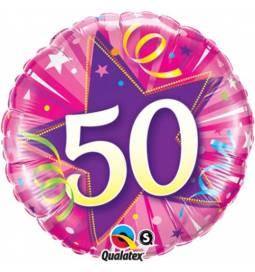 Folija balon 50 let, Elegant Sparkles