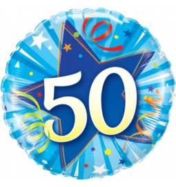 Folija balon 50 let, Pink zvezda