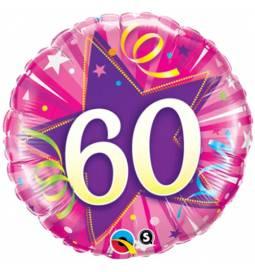 Folija balon 60 let, Modra zvezda