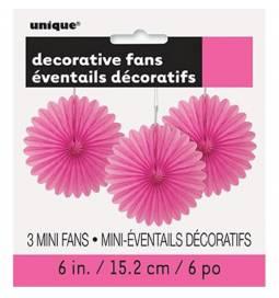 Dekorativna pahljača 3/1, Pink
